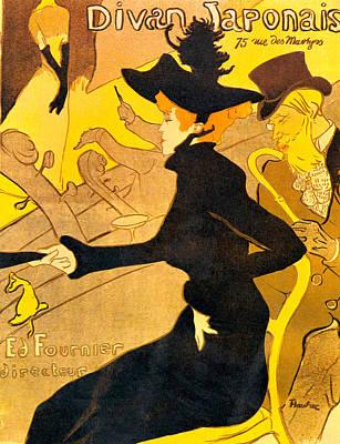 Divan Japonais Poster by Toulouse Lautrec