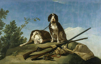 Dogs On The Leash Poster by Francisco Goya