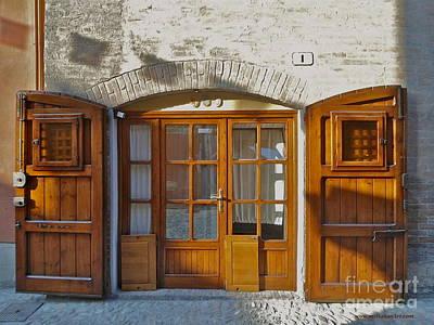 Door In Brisighella, Italy Poster by Italian Art