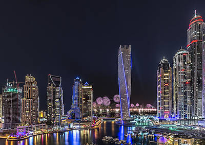 Dubai Marina Poster by Vinaya Mohan