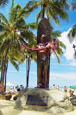 Duke Kahanamoku Statue Poster by Mary Van de Ven - Printscapes