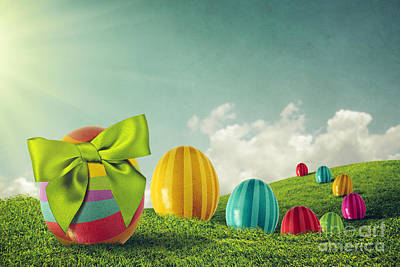 Easter Eggs Poster by Carlos Caetano