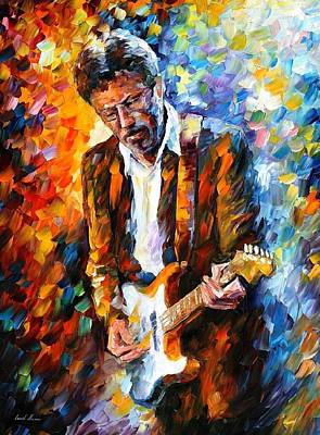 Eric Clapton Poster by Leonid Afremov