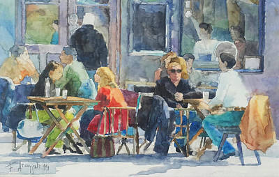 Escena En Cafe  Poster by Federico Arcangeli