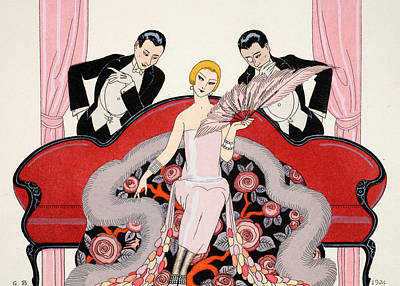 Falbalas Et Fanfreluches Poster by Georges Barbier