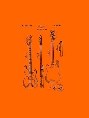 Fender Bass Guitar Patent-1953 Poster by Barry Jones