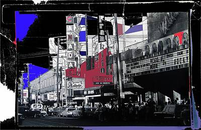 Film Homage Rocky 1976 Us Mexico Border Town Collage Juarez Chihuahua Mexico 1977-2012 Poster by David Lee Guss