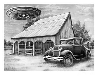 Flying Saucer Poster by Murphy Elliott