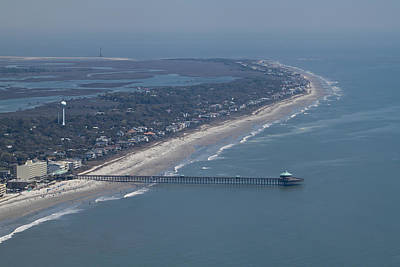 Folly Beach South Carolina Aerial Poster by Dustin K Ryan