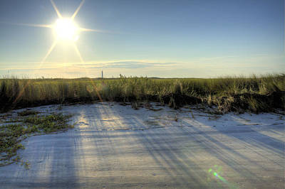 Folly Beach Sunrise Over Morris Island Poster by Dustin K Ryan
