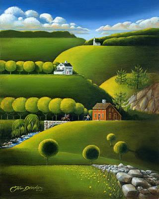 Foothills Of The Berkshires Poster by John Deecken