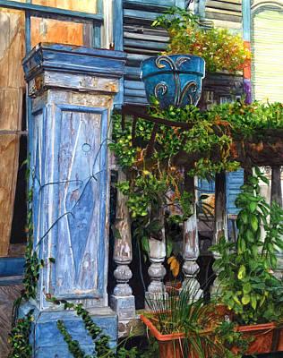 French Quarter Porch Poster by John Boles