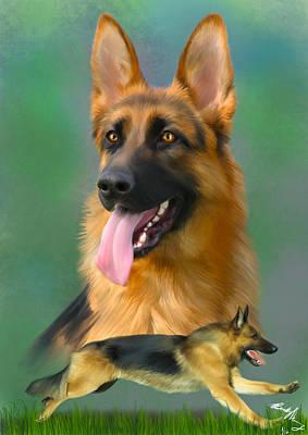German Shepherd Poster by Becky Herrera