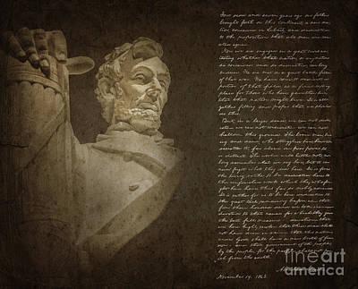 Gettysburg Address Poster by Diane Diederich