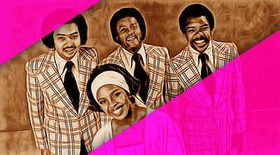 Gladys Knight And The Pips Poster by Marvin Blaine