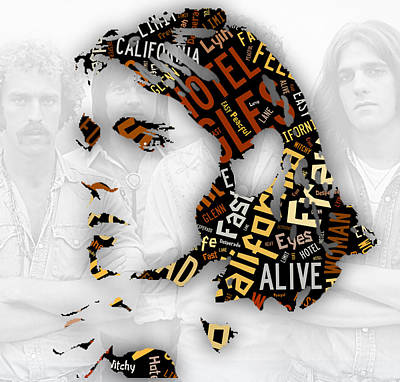 Glenn Frey Eagels Collection Poster by Marvin Blaine