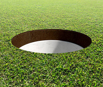 Golf Hole And Green Poster by Allan Swart