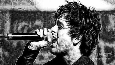 Green Day Billie Joe Armstrong Poster by Marvin Blaine