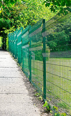 Green Fence Poster by Tom Gowanlock