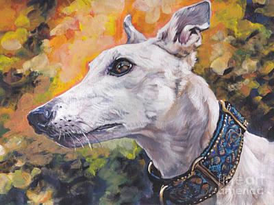 Greyhound Portrait Poster by Lee Ann Shepard
