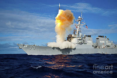 Guided Missile Destroyer Uss Hopper Poster by Stocktrek Images