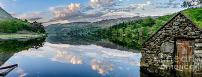 Gwynant Lake  Poster by Adrian Evans