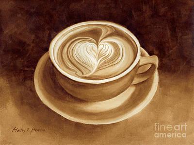 Heart Latte II Poster by Hailey E Herrera
