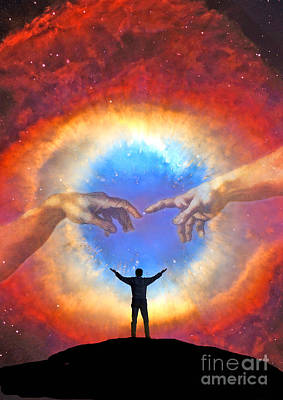 Helix Nebula Poster by Larry Landolfi