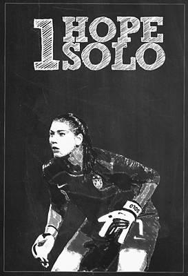 Hope Solo Poster by Semih Yurdabak