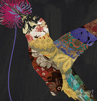 Hummingbird Brocade IIi  Poster by Mindy Sommers