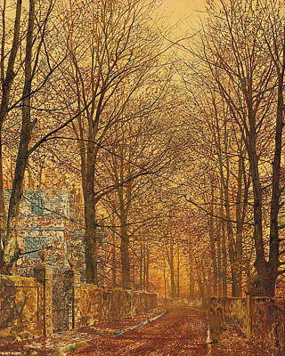 In The Golden Olden Time Poster by John Atkinson Grimshaw