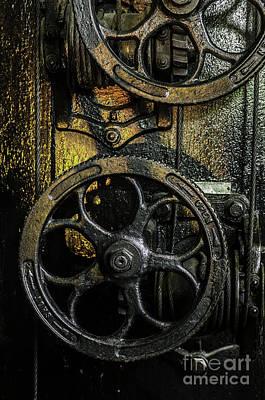 Industrial Wheels Poster by Carlos Caetano