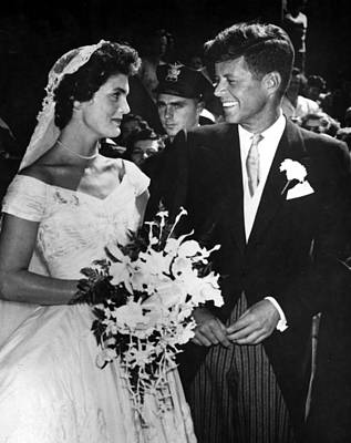 Jacqueline Kennedy And John F. Kennedy Poster by Everett