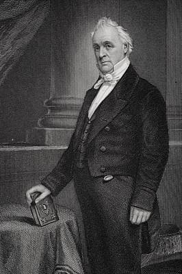 James Buchanan 1791 To 1868. 15th Poster by Vintage Design Pics