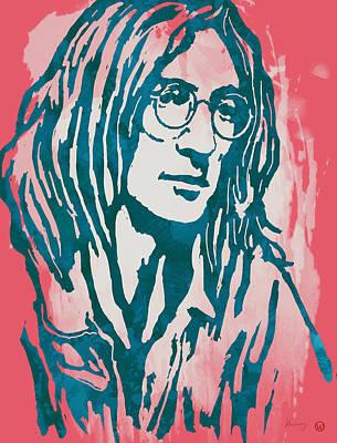John Lennon Pop Stylised Art Sketch Poster Poster by Kim Wang