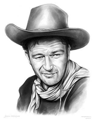 John Wayne Poster by Greg Joens