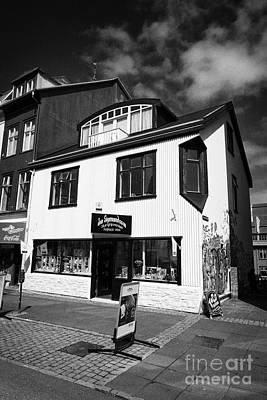 Jon Sigmundsson Laugavegur Main Pedestrian Shopping Street Reykjavik Iceland Poster by Joe Fox