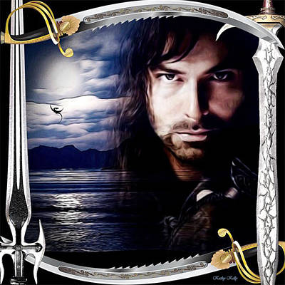 Kili With Swords Poster by Kathy Kelly