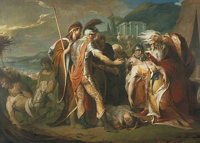 King Lear Weeping Over The Dead Body Of Cordelia Poster by James Barry