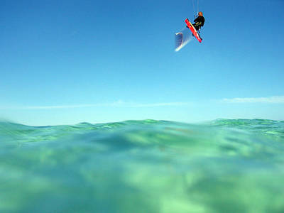 Kitesurfing Poster by Stelios Kleanthous