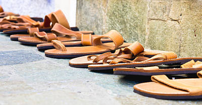 Leather Sandals Poster by Tom Gowanlock