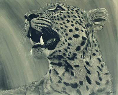 Leopard Portrait Poster by Aaron Blaise