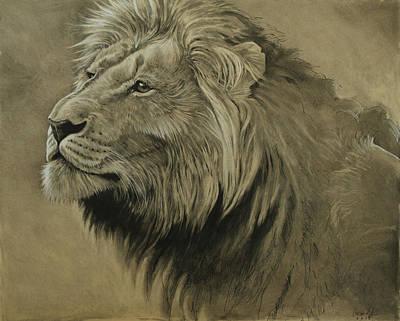 Lion Portrait Poster by Aaron Blaise