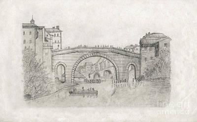 Liverpool Bridge Poster by Donna Munro