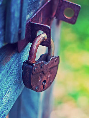 Lock On Fence For Security Poster by Oksana Ariksina