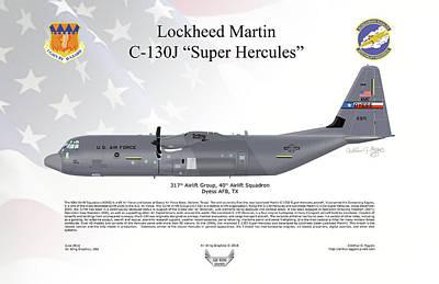 Lockheed Martin C-130j-30 Super Hercules Poster by Arthur Eggers