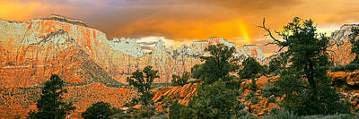 Low Angle View Of A Mountain Range Poster by Panoramic Images
