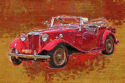 M G - Classic British Sports Car Poster by Jack Zulli