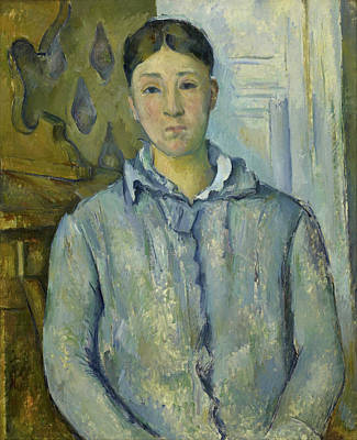 Madame Cezanne In Blue  Poster by Paul Cezanne