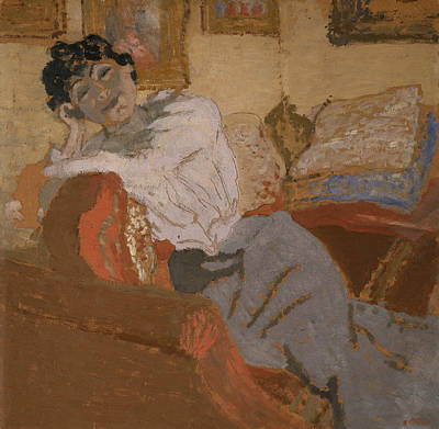 Madame Hessel On The Sofa Poster by Edouard Vuillard